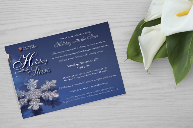 Holiday with the Stars invitation